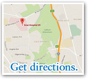Sinai Hospital Map - Click here for directions.